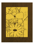 Wenge Wood Floral 1-Lemon Giclee Print by Kathleen McCarty