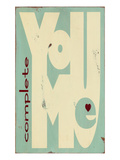 You Complete Me Giclee Print by  Barn Owl Primitives