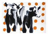 Judy's Cows Giclee Print by Judy Levy