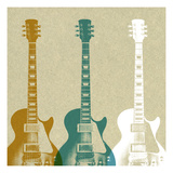 Guitars 3 Prints by Stella Bradley