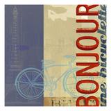 Bonjour Bike Print by Stella Bradley