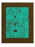 Wenge Wood Floral 1-Teal Giclee Print by Kathleen McCarty