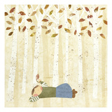 Looking at Leaves Giclee Print by Kate Endle