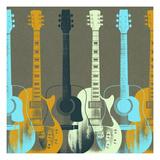 Guitars 5 Affiches par Stella Bradley