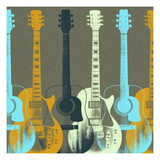 Guitars 5 Prints by Stella Bradley