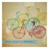 Bikes 1 Giclee Print by Stella Bradley