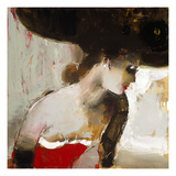 Lady in Red Giclee PrintElena Ilku