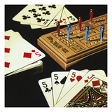Cribbage Giclee Print by Ray Pelley