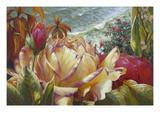 Seaside Roses Giclee Print by Elizabeth Horning