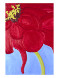 Red Zinnia Prints by Soraya Chemaly