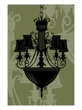 Chandelier 5 Green Giclee Print by Sharyn Sowell