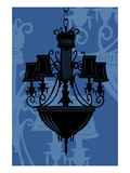 Chandelier 5 Blue Giclee Print by Sharyn Sowell