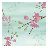 Zen Blossoms 1 Print by Kate Knight