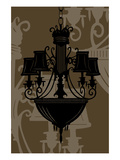 Chandelier 5 Chocolate Giclee Print by Sharyn Sowell