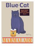 Blue Cat Wydruk giclee autor Ken Bailey