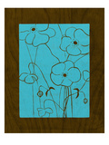 Wenge Wood Floral 4-Blue Giclee Print by Kathleen McCarty