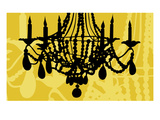 Chandelier 6 Yellow Giclee Print by Sharyn Sowell