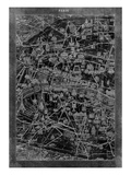 Paris Map Giclee Print by  GI ArtLab