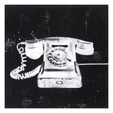 White Phone Giclee Print by JB Hall