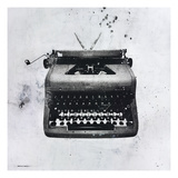 Black Typewriter Giclee Print by JB Hall