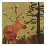 Deer 2 Giclee Print by  jefdesigns