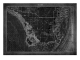 Miami Map A Giclee Print by  GI ArtLab