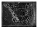 Miami Map A Prints by  GI ArtLab