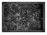 Mt. Rainier Map Art by  GI ArtLab