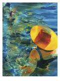 Swimming With Susan Giclee Print by Terri Hill