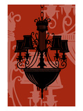 Chandelier 5 Red Giclee Print by Sharyn Sowell