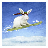 Snow Bunny Giclee Print by Will Bullas