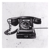 Black Phone Giclee Print by JB Hall
