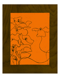 Wenge Wood Floral 3-Orange Giclee Print by Kathleen McCarty