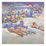 Sunbathers in Arragement Giclee Print by John Asaro