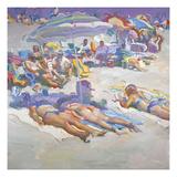 Sunbathers in Arragement Poster by John Asaro