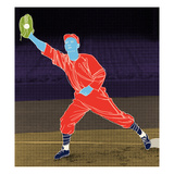 First Base Catch Giclee Print by Robert Williamson