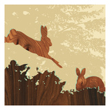 Bunny 1 Giclee Print by  jefdesigns