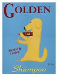 Golden Shampoo Giclee Print by Ken Bailey