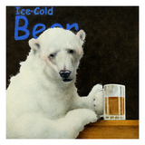 Ice-cold Bear Giclee Print by Will Bullas