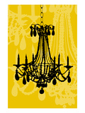 Chandelier 4 Maize Giclee Print by Sharyn Sowell