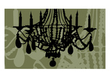 Chandelier 6 Green Giclee Print by Sharyn Sowell