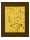 Wenge Wood Floral 4-Lemon Giclee Print by Kathleen McCarty