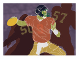 QB Ready Giclee Print by Robert Williamson