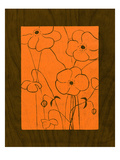 Wenge Wood Floral 4-Orange Giclee Print by Kathleen McCarty