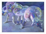 Three Dancers in Grey and Blue Posters by John Asaro