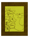 Wenge Wood Floral 3-Lime Giclee Print by Kathleen McCarty