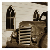 Fire Truck and Church Photographic Print by TM Photography