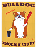 English Bulldog 2 Print by Ken Bailey