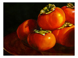 Five Persimmons Giclee Print by Terri Hill