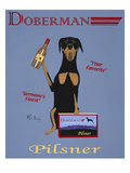 Doberman Pilsner Giclee Print by Ken Bailey